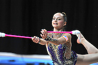 September 5, 2015 - Stuttgart, Germany - CAMILLA FEELEY of USA performs in training before AA qualifications at 2015 World Championships.