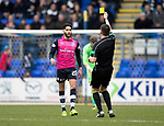 St Johnstone v Dundee&hellip;11.03.17     SPFL    McDiarmid Park<br />Faissal el Bakhtaoui is booked for diving<br />Picture by Graeme Hart.<br />Copyright Perthshire Picture Agency<br />Tel: 01738 623350  Mobile: 07990 594431