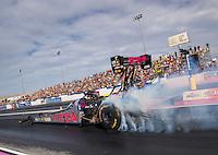 Oct 30, 2016; Las Vegas, NV, USA; NHRA top fuel driver Antron Brown during the Toyota Nationals at The Strip at Las Vegas Motor Speedway. Mandatory Credit: Mark J. Rebilas-USA TODAY Sports