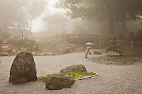 &quot;Peace in the Japanese Zen Garden&quot;<br /> <br /> The Ohara Peace Bell appears in the fog in Duluth's beautiful and historic Enger Park. Some trails in the park lead visitors to sweeping views over the city and Lake Superior, while other paths lead to this beautiful, serene Japanese zen garden. The Peace Bell was a gift from Duluth's sister city, Ohara, Japan.