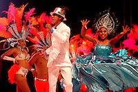 BARRANQUILLA-COLOMBIA- 11-02-2017: Comparsa Fusion Do Brasil participante en La Fiesta de Danzas y Cumbias del Carnaval de Barranquilla 2016 invita a todos los colombianos a contagiarse del Jolgorio general encabezado por su reina Marcela Garcia Caballero. Este desorden organizado dará la oportunidad de apreciar a propios y extraños el desfile de danzas, disfraces y hacedores del carnaval que la convierten en una de las festividades más importantes del país y que se lleva a cabo hasta el 9 de febrero de 2016. / Fusion Do Brazil comparsa paticipant of The party of Dances and Cumbias of Carnaval de Barranquilla 2016 invites all Colombians to catch the general reverly led by their Queen Marcela Garcia Caballero. This organized disorder gives the oportunity to appreciate, by friends and strangers, the parade of dancers, customes and carnival makers that make it one of the most important festivals of the country and take place until February 9, 2016.  Photo: VizzorImage / Alfonso Cervantes / Cont