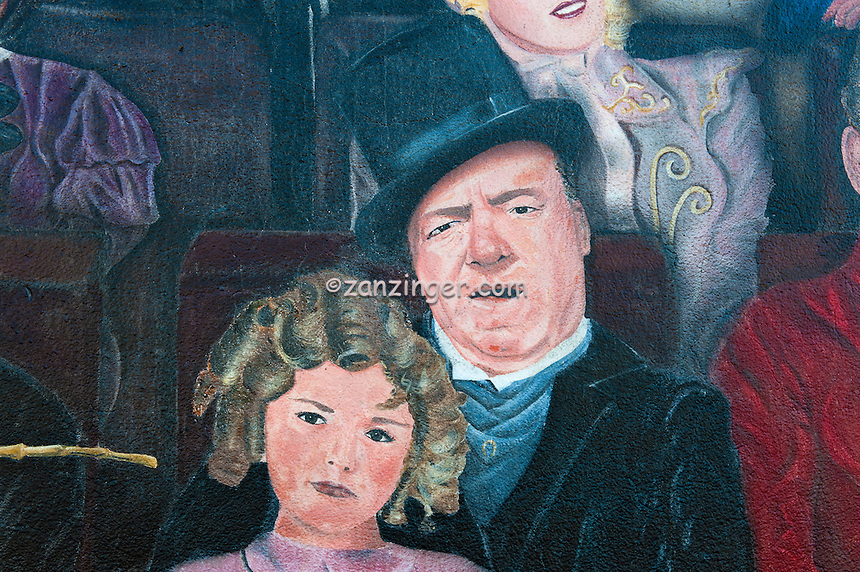 Buster keaton shirley temple you are the star hollywood for Celebrity mural