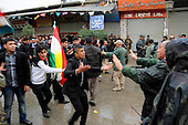 SULAIMANIYAH, IRAQ: Protesters and Kurdish security forces face off on the streets...Tension continues to grow in the semi-autonomous region of Iraqi Kurdistan as protesters clash with police on a 5th day of unrest...Photo by Akam Shekh Hadi