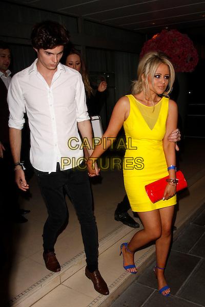 yellow dress  red