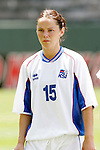 24 July 2005: Iceland's Olina Vidarsdottir, pregame. The United States defeated Iceland 3-0 at the Home Depot Center in Carson, California in a Women's International Friendly soccer match.