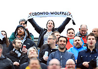TORONTO, ON - MAY 06:  Toronto Wolfpack fans sing the national anthem prior to the first half of a Kingstone Press League 1 match against Oxford RLFC at Lamport Stadium on May 6, 2017 in Toronto, Canada.  (Photo by Vaughn Ridley/SWpix.com)