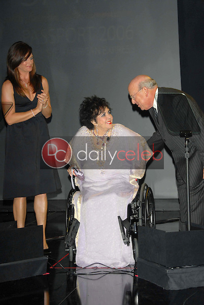 Brooke Shields and Elizabeth Taylor<br />at the Macy's Passport Gala 2006. Barker Hangar, Santa Monica, CA. 09-28-06<br />Dave Edwards/DailyCeleb.com 818-249-4998