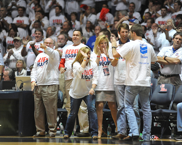 Ole Miss fans cheer vs. Kentucky at the C.M. &quot;Tad&quot; Smith Coliseum on Tuesday, January 29, 2013.