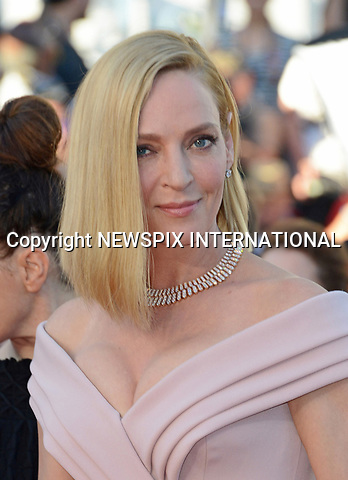 17.05.2017; Cannes, France: UMA THURMAN<br /> attends the premiere of &quot;Les Fantomes d'Ismael&quot; at the 70th Cannes Film Festival, Cannes<br /> Mandatory Credit Photo: &copy;NEWSPIX INTERNATIONAL<br /> <br /> IMMEDIATE CONFIRMATION OF USAGE REQUIRED:<br /> Newspix International, 31 Chinnery Hill, Bishop's Stortford, ENGLAND CM23 3PS<br /> Tel:+441279 324672  ; Fax: +441279656877<br /> Mobile:  07775681153<br /> e-mail: info@newspixinternational.co.uk<br /> Usage Implies Acceptance of Our Terms &amp; Conditions<br /> Please refer to usage terms. All Fees Payable To Newspix International