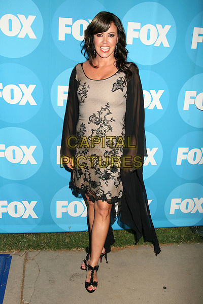 MARY MURPHY.2006 FOX TCA Summer Party, Pasadena, California, USA. .July 25th, 2006.Photo: Byron Purvis/AdMedia/Capital Pictures.Ref: ADM/BP.full length black sheer grey gray floral print dress.www.capitalpictures.com.sales@capitalpictures.com.©AdMedia/Capital Pictures.
