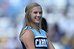 24 September 2016: UNC cheerleader. The University of North Carolina Tar Heels hosted the University of Pittsburgh Panthers at Kenan Memorial Stadium in Chapel Hill, North Carolina in a 2016 NCAA Division I College Football game. UNC won the game 37-36.