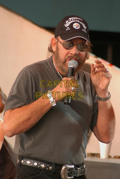 HANK WILLIAMS JR.Jamboree in the Hills  .Morristown, 16th July 2005.stage gig country music festival half length half length .Ref: Kelly Belcher.www.capitalpictures.com.sales@capitalpictures.com.© Capital Pictures.