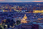 The famous gold dome of the Massachusetts State House in the capital city of Boston, MA.
