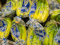 Chiquita brand bananas are seen in a supermarket in New York on Tuesday, April 22, 2014. A fungus called Fusarium wilt TR4 is developing into a serious threat to the world's banana supply. (© Richard B. Levine)