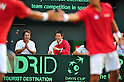 Kei Nishikori (JPN), SEPTEMBER 17, 2011 - Tennis : Davis Cup by BNP Paribas 2011 World Group play-off match Tatsuma Ito/Yuichi Sugita (JPN) 1(5-7 6-3 3-6 6-7)3 Rohan Boppana/Mahesh Bhupathi (IND) at Ariake Colosseum, Tokyo, Japan. (Photo by Jun Tsukida/AFLO SPORT) [0003]