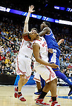 DeAndre Liggins goes in for a layup in the second half of UK's Sweet 16 NCAA tournament win, 62-60 against 1 seed Ohio State at the Prudential Center in Newark, New Jersey on Friday, March 25, 2011.  Photo by Britney McIntosh | Staff