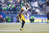William Gay #22 of the Pittsburgh Steelers in action against the Seattle Seahawks during the game at CenturyLink Field on November 29, 2015 in Seattle, Washington. (Photo by Jared Wickerham/DKPittsburghSports)
