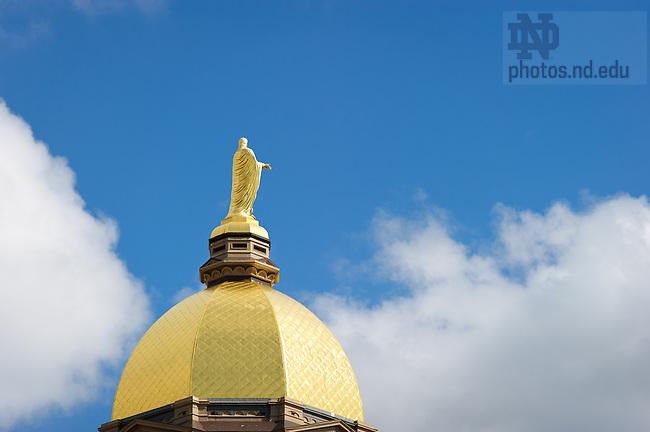 Apr. 25, 2013; Golden Dome & Clouds..Photo by Matt Cashore/University of Notre Dame