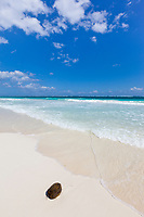 White sand beach near Tulum, Mexico