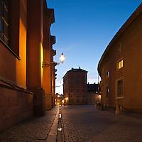 Gamla Stan - old town at night, Stockholm, Sweden