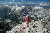 Berchtesgaden National Park, Bavavia, Germany, July 2004. climbing to the Watzmann ridge (watzmann grad) We are trekking  from hut to hut in the Bavarian mountains of Berchtesgaden. Photo by Frits Meyst/Adventure4ever.com