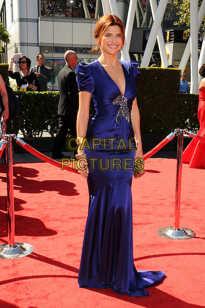 Lake Bell.2012 Creative Arts Emmy Awards - Arrivals held at the Nokia Theatre L.A. Live, - Los Angeles, California, USA, 15th September 2012..emmys full length long maxi dress blue purple fishtail train .CAP/ADM/BP.©Byron Purvis/AdMedia/Capital Pictures.