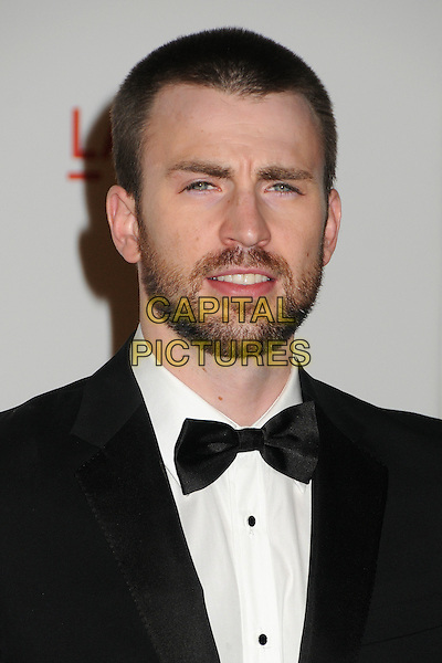 Chris Evans.The Inaugural Art and Film Gala held at LACMA in Los Angeles, California, USA..November 5th, 2011.headshot portrait black white bow tie beard facial hair .CAP/ADM/BP.©Byron Purvis/AdMedia/Capital Pictures.