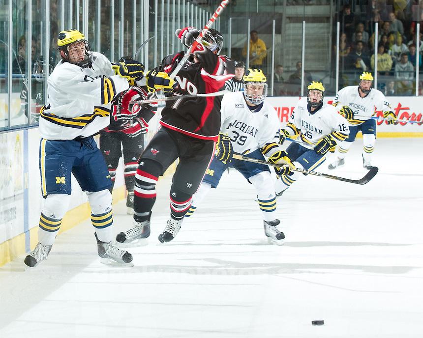 University of Michigan ice hockey 6-1 victory over Nebraska-Omaha at Yost Ice Arena in Ann Arbor, MI, on October 23, 2010.