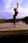 Yoga on Omega's Lake at Sunset