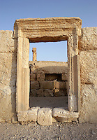 Shop doorway in the Roman Forum, Palmyra, Syria Picture by Manuel Cohen