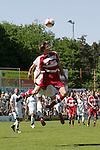 Sandhausen 10.05.2008, Kopfball Velimir Grgic (SV Sandhausen) und Holger Badstuber (FC Bayern M&uuml;nchen II) in der Regionalliga beim Spiel SV Sandhausen - FC Bayern M&uuml;nchen II<br /> <br /> Foto &copy; Rhein-Neckar-Picture *** Foto ist honorarpflichtig! *** Auf Anfrage in h&ouml;herer Qualit&auml;t/Aufl&ouml;sung. Belegexemplar erbeten.