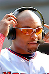 5 September 2005: Marlon Byrd, outfielder for the Washington Nationals, during a television interview following a game against the Florida Marlins. The Nationals defeated the Marlins 5-2 at RFK Stadium in Washington, DC, maintaining a close race for the NL Wildcard spot. Mandatory Photo Credit: Ed Wolfstein.