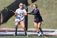 Towson, MD - March 5, 2017: Towson Tigers Carly Tellekamp (23) tries to make a pass during game between Towson and Florida at  Minnegan Field at Johnny Unitas Stadium  in Towson, MD. March 5, 2017.  (Photo by Elliott Brown/Media Images International)