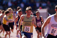 Tom O'Kane runs the anchor leg for La Salle College High School in the High School Boys' 4x800 Large Schools race at the Penn Relays on April 23. La Salle took fourth place in a time of 7:51.39, which qualified the team for the Championship of America in the 4x800.  La Salle placed seventh overall in the Championship event in 7:47.19.