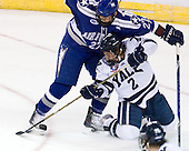 John Kruse (Air Force - 27), Jimmy Martin (Yale - 2) - The Yale University Bulldogs defeated the Air Force Academy Falcons 2-1 (OT) in their East Regional Semi-Final matchup on Friday, March 25, 2011, at Webster Bank Arena at Harbor Yard in Bridgeport, Connecticut.