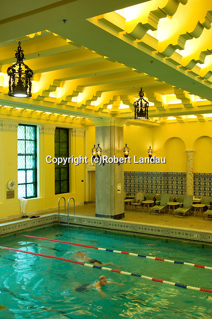 Indoor swimming pool at Intercontinental Hotel in downtown Chicago