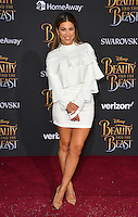 Liz Hernandez at the premiere for Disney's &quot;Beauty and the Beast&quot; at El Capitan Theatre, Hollywood. Los Angeles, USA 02 March  2017<br /> Picture: Paul Smith/Featureflash/SilverHub 0208 004 5359 sales@silverhubmedia.com