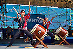 Riverstage, Great Plaza of Penn's Landing, Philadelphia, PA - September 3 2011; WHYY's Connections Fest second day opening act community percussion group Kyo Daiko from Philly