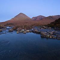 Glamaig and Red Cuillin, near Sigachan, Isle of Skye, Scotland