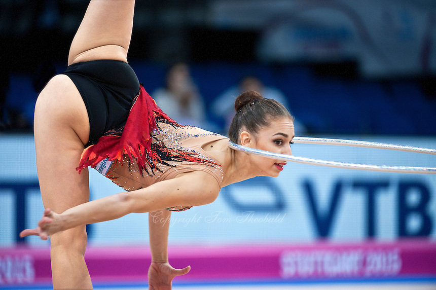 September 7, 2015 - Stuttgart, Germany -  ALEXANDRA PISCUPESCU of Romania performs during AA qualifications at 2015 World Championships.