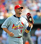 13 March 2009: St. Louis Cardinals' first baseman Albert Pujols in action during a Spring Training game against the Baltimore Orioles at Fort Lauderdale Stadium in Fort Lauderdale, Florida. The Cardinals defeated the Orioles 6-5 in the Grapefruit League matchup. Mandatory Photo Credit: Ed Wolfstein Photo
