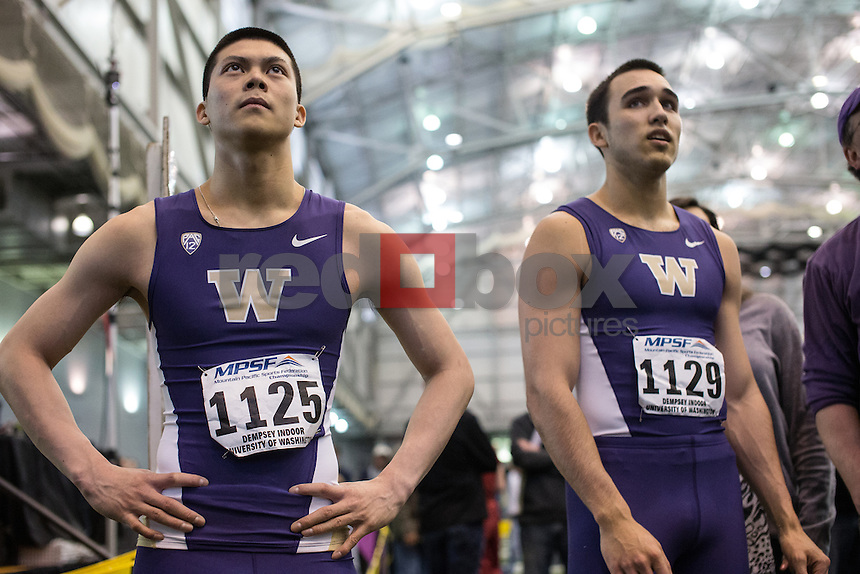The Mountain Pacific Sports Federation indoor track and field championships were held at Dempsey Indoor Arena at the University of Washington on February 23, 2013. (Photography by Red Box Pictures)