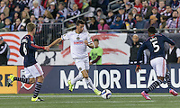 Foxborough, Massachusetts - September 26, 2015: In a Major League Soccer (MLS) match, the New England Revolution (blue/white) tied Philadelphia Union (white), 1-1, at Gillette Stadium.
