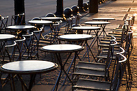 Cafe Marly Terrace, Louvre Art Museum, Paris, France
