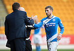 St Johnstone v Partick Thistle&hellip;29.10.16..  McDiarmid Park   SPFL<br />David Wohterspoon is subbed by Tommy Wright<br />Picture by Graeme Hart.<br />Copyright Perthshire Picture Agency<br />Tel: 01738 623350  Mobile: 07990 594431