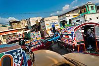A traffic jam seen on street close to the La Saline market, Port-au-Prince, Haiti, 15 July 2008.