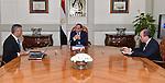 Egyptian President Abdel Fattah al-Sisi meets with Saad Al-Jyoshi minister of Transportation in Cairo, Egypt, on Dec. 06, 2015. Photo by Egyptian President Office