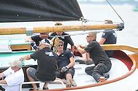 ZEILEN: LEMMER: Lemster baai, 31-07-2014, SKS skûtsjesilen, skûtsje It Doarp Huzum, Huizum, schipper Lodewijk Hzn. Meeter, ©foto Martin de Jong