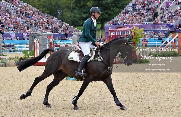 Ruy Fonseca (BRA) riding Tom Bombadill Too. Equestrian Eventing - PHOTO: Mandatory by-line: Garry Bowden/SIP/Pinnacle - Photo Agency UK Tel: +44(0)1363 881025 - Mobile:0797 1270 681 - VAT Reg No: 768 6958 48 - 31/07/2012 - 2012 Olympics - Greenwich, London, England.