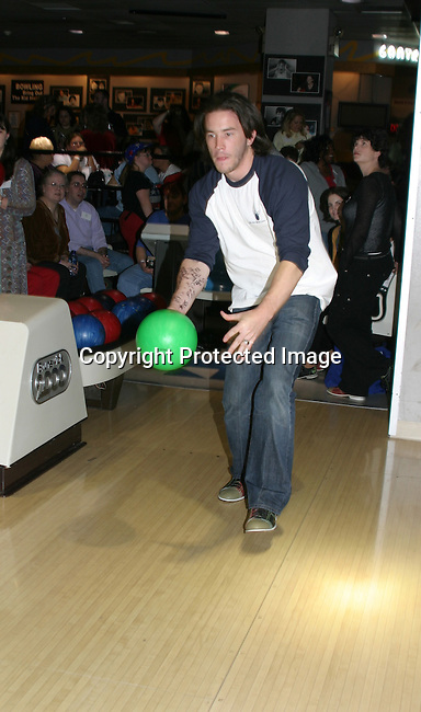 """GL =  - Tom Pelphrey bowls """"Jonathan"""" at the BLoss and Friends Bowling 10-9-04 Port Authority, NYC (. The event benefits the American Heart Assn. This year this event raised over $5000.  Photo by Sue Coflin)"""
